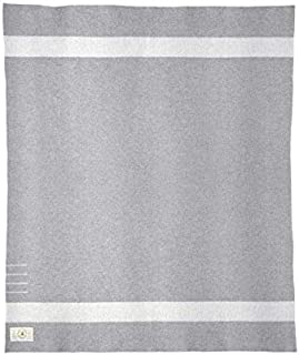 Hudson's Bay Company Stripes Iconic Ice 8 Point Blanket 100% Wool King Size