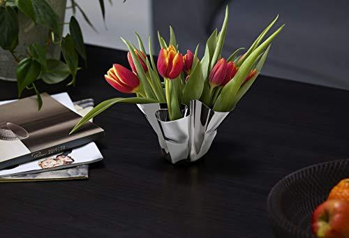 Philippi - Margeaux Vase oder Windlicht - handgefaltetes Unikat aus Edelstahl - Teelicht oder Vase. Eyecatcher für jeden Anlass