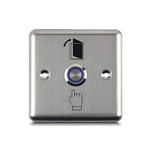 LUCINE Interruptor de liberación de botón pulsador de puerta mejorado con LED para sistema de control de acceso, botón de salida de desbloqueo fácil de instalar