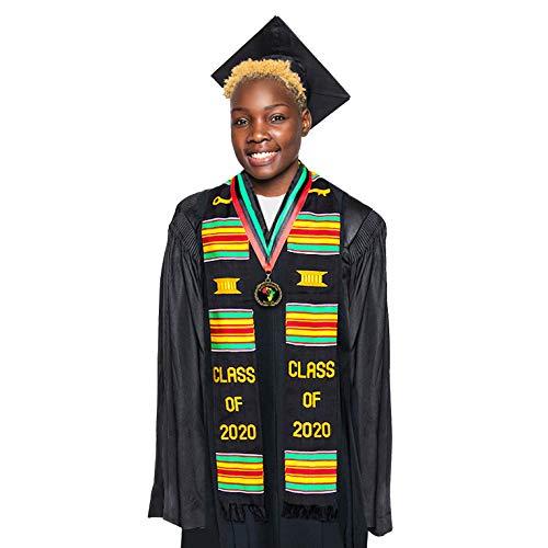 Class of 2020 Graduation Kente Stole/Medallion + 3 Bonus Gifts