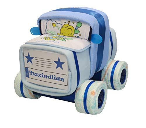 Windeltorte - Windelauto - Auto - blau - Junge - Windel-Auto
