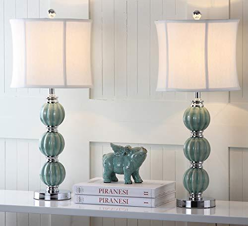 Safavieh Lighting Collection Stephanie Green Globe 25-inch Table Lamp (Set of 2)