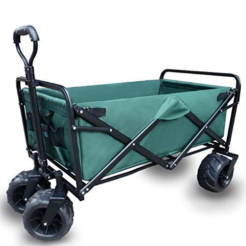 4-Rad-Faltwagen - Faltbarer Campingwagen Tragbarer Garten und DIY-Wagen (Farbe : A)