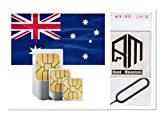 SIMカード オーストラリア Optus回線  4G高速通信 28日間 大容量 45GB 音声通話無制限(日本へ通話無料) SMS/MMS無制限 プリペイド RoadMountain社製SIMピンセット付き 日本語マニュアル付き