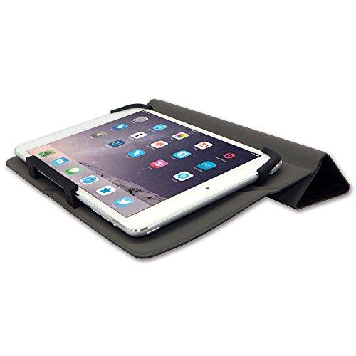Qmadix Universal-Schutzhülle für Tablets mit Einer Bildschirmdiagonale von 17,8-20,3 cm (7-8 Zoll), Schwarz