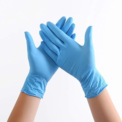 Junww Oferta Caliente 100 Piezas/Paquete Examen de PVC de látex Altamente elástico para protección, bacterias y Aceite XL Azul Claro