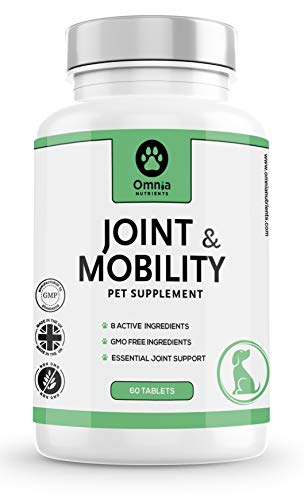 Joint and Mobility Supplement for Dogs | Joint Care | Aids Stiff Joints | Maintains Mobility | Glucosamine & Natural Chondroitin & Green Lipped Mussel | 8 Active ingredients | 120 Tablets |
