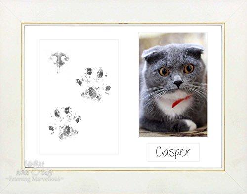 Anika-Baby Kit de pattes de chat animaux avec argent Cadre noir Choisissez Plat Couleur Cadeau Chatons de mémoire empreintes personnaliser vous-même