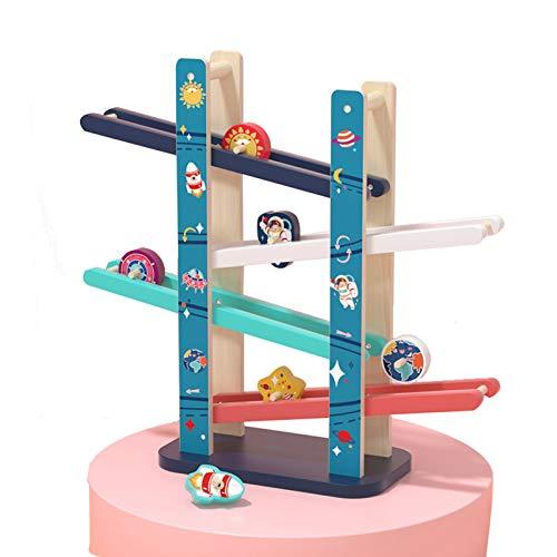 WFF Spielzeug Auto-Ramp-Spielzeug mit Vier Holz Tracks und 6 Rollen Inertial .Children Lernspielzeug for 2-6 Jahre Alten Jungen Geschenke (Color : 1 Piece)