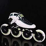 Roller Skates à roulettes adultes Skates en ligne - Sports à l'extérieur de loisirs Fitness Fitness Rangez-vous Skates avec une roue de 110 mm Chaussures de patinage de course de course haute performa