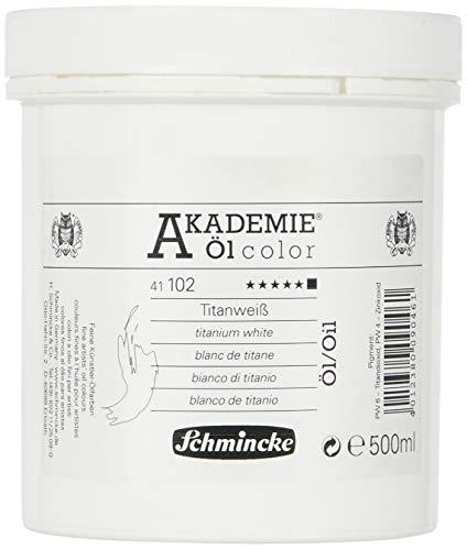 Schmincke 500ml Akademie Öl Color Titanweiss Öl 41 102 050