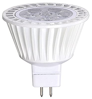 Bioluz LED MR16 LED Bulb Dimmable 3000K 50W Halogen Replacement 12VAC DC GU5.3 Base 400 Lumen 40° Beam Angle UL Listed