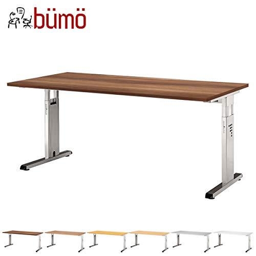 bümö® Schreibtisch für das Büro | Bürotisch in 6 Dekoren & 7 Größen verfügbar | Büroschreibtisch (Zwetschge, 80_x_160_cm)