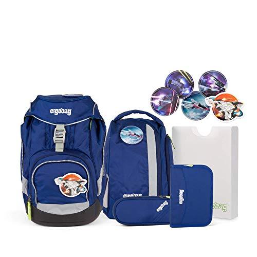 Ergobag Pack SchlauBär, ergonomischer Schulrucksack, Set 6-teilig, 20 Liter, 1.100 g, Blau