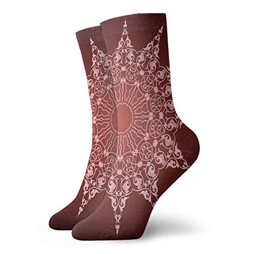 FULIYA Soft Calf Length short SocksWatercolor Pastel Colored Romantic Florals Petals And Buds Art Print,Socks Women and...