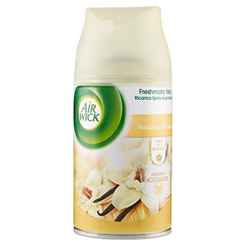 Air Wick Fresh Matic Ricarica Spray Automatico, Vaniglia e Thè Bianco, 250ml