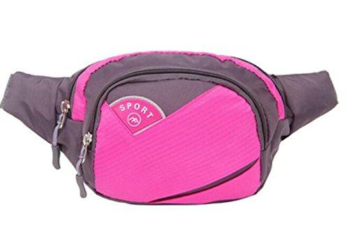 ZYT Sac portable multifonctions poches sport hommes et femmes d'équitation son bras. le sac de taille en nylon imperméable à l'eau . rose red