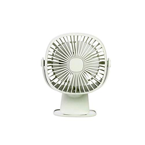 YO-TOKU USB Fans, Night Light Clip Fan, Low Noise for moeder en baby, 360 ° Rotating Air Supply, groen, roze, wit (kleur: roze) USB Gadgets