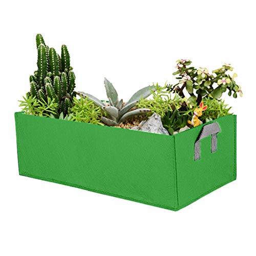 Pflanztasche,40X30X20CM Pflanze Wachsende Tasche, Vliesstoff Pflanzsack mit Griffe Pflanzsack Pflanzbeutel Gemüse Grow Bag Pflanztasche für Kartoffeln, Tomaten und Erdbeeren (Armeegrün)