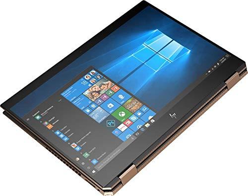 HewlettPackard 2019 Spectre x360 15t Touch Max Q GTX 1050Ti 6 core (Intel i7 8750H, 4K UHD, 16GB, 1TB SSD,2 in 1, Stylus with 3 Years McAfee Internet Security, Windows 10 PRO Upgrade, Worldwide Warranty) Dark Ash