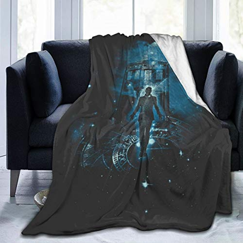 NUJSHF Time Traveller Tardis Doctor Who Manta de franela de forro polar, ligera, ultrasuave, cálida, apta para sofá
