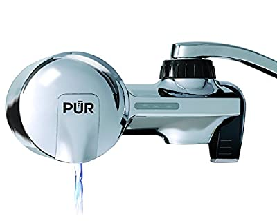 PUR PFM400H Water Filtration System, Chrome Horizontal Faucet Mount with 1 MineralClear Filter