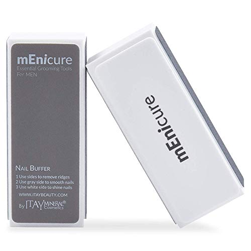 Menicure Nail Buffer, 4 Way Nail Buffer Block – Essential Grooming Tool For Men – Files, Smooth, Shine, For Healthy & Shiny Nails By Menicure Mens Hand Care Kit (1 Count)