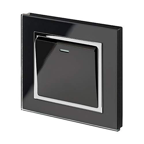 Retrotouch RTS2005 Designer-Lichtschalter einfach mechanisch schwarz