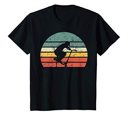 Kinder Stunt Scooter Tretroller Rollerfahrer Stunt Roller Retro T-Shirt
