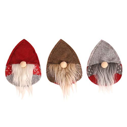 CHIHUOBANG 3 unids/set tenedor cuchillo cubiertos cubiertos cubiertos cubiertos bolsa sueca Santa Gnome hogar Navidad fiesta cena decoración