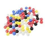 Milageto Paquete de 900 Bolas de Cristal de Bolas de Canicas Coloridas para Decoración de Juguetes de Desarrollo para Niños