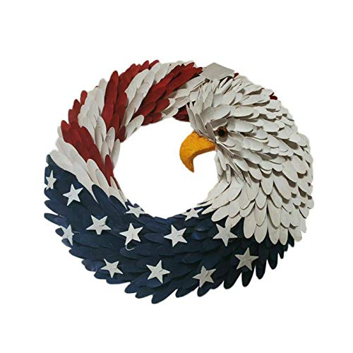 10inch National Flag Eagle Design Artificial Garland Wreath Wall Hanging Ornaments