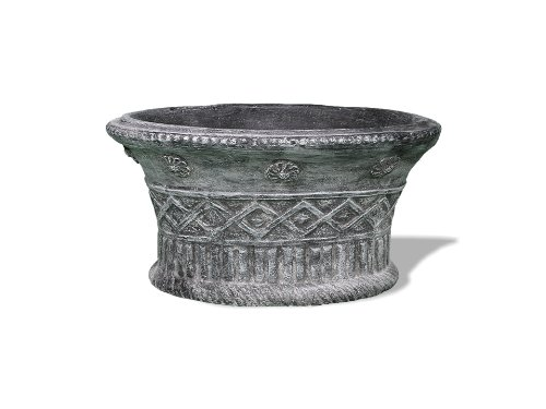 Amedeo Design ResinStone 2509-5C Mediterenian Oval Planter, 20 by 10 by 12-Inch, Charcoal