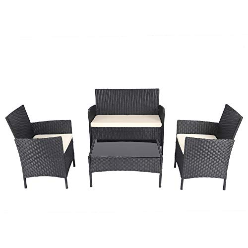 Chicreat C80715 Patio Lounge Set, Marrone, 57.5 x 57.5 x 85.5 cm