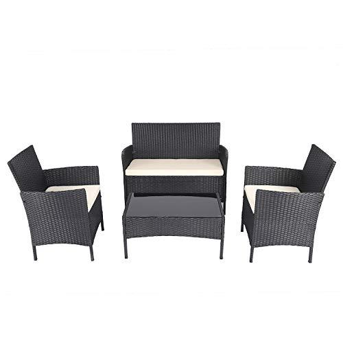 Chicreat Set lounge in polyrattan per interni ed esterni