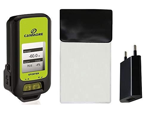 GP-102 G-Porter Multifonction Localisateur GPS Tracker Altimeter Enregistreur Compteur de Vitesse/Set avec Chargeur et Sac étanche (Vert)
