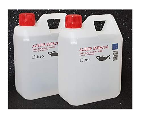 Aceite maquina de coser. Especial Incoloro - Lubricante para Maquinas de Coser y mecanismos varios. 2 Litros (830+830 gramos)