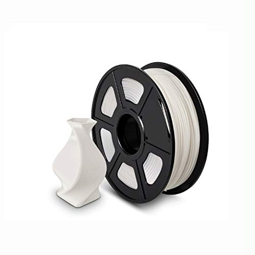 PLA 3D Printer Filament Bundle,PLA Basics Filament 1KG 1.75mm Accuracy +/-0.02,3D Printer Consumables,Widely Compatible,Good Layer bonding Consumables(White)