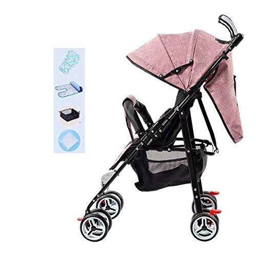 Poussette canne légère, Ultra compacte Pliable Landau bébé-Parapluie pour poussettes, siège de Voyage/siège inclinable/poignée de poussée 360 °, Max du Nourrisson au Bambin 25 kg / 55 LB