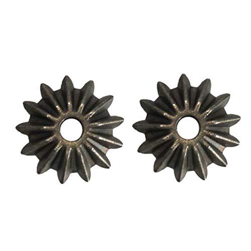 B Blesiya 2 Piezas Metal Piñón Diferencial Dientes de Engranajes Cónicos Piezas para Traxxas Slash 1/10 RC Coche