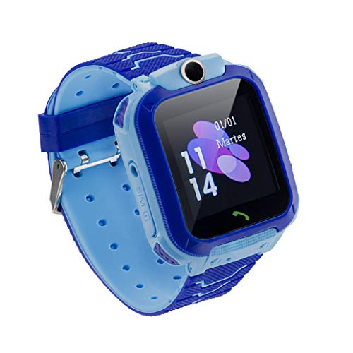 Sami - Junior - Smartwatch, Reloj Inteligente Junior, Smartband, Pulsera de Actividad Deportiva. para Android y iOS. WiFi,Número SOS,GPS,Función Valla, Cámara y Escucha Remota, Multideportivo. Azul.