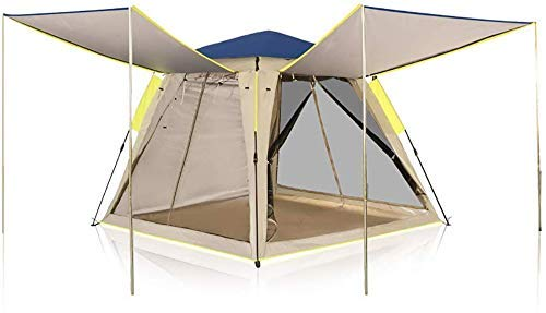 LHQ-HQ 3-4 Person Fully Automatic Camping Tent Instant Tents Sun Shelter Waterproof for Outdoor Sports Hiking Travel Rainfly Automatic Camping Tent