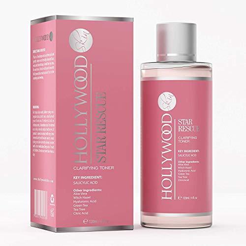 Toner clarifiant - le toner à l'acide citrique Ultime pour restaurer l'équilibre de la peau, combattre les poussées dommageables et resserrer les pores pour un éclat Hollywoodien quotidien – 120ml