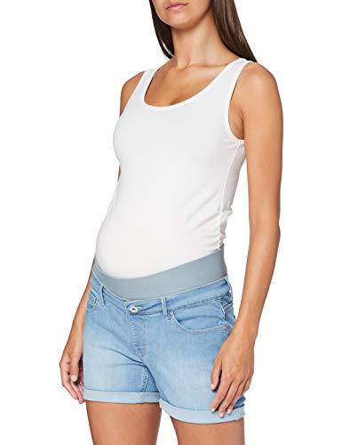 Supermom Damen Jeans UTB Short Umstandsshorts, Blau (Light Blue Denim P113), 38 (Herstellergröße: 29)