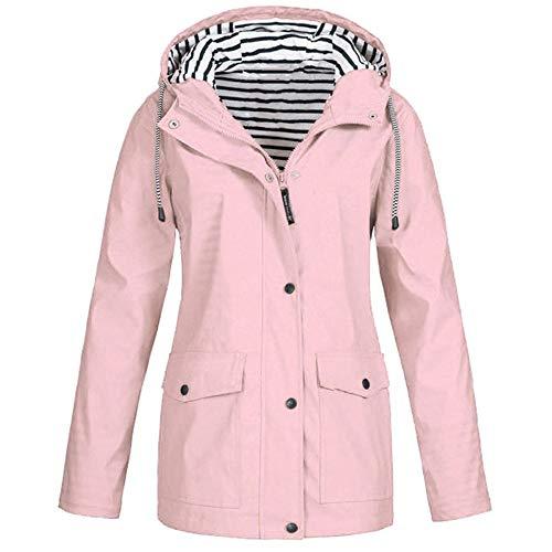 cappotto donna scozzese EUCoo Giacca da Donna Autunno Inverno Cappotto Leggero Militare Anorak Safari Hoodie Jacket Raincoat Plus Size