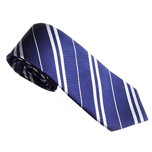 Zarupeng Herren Schmale Streifen Krawatten Seide Business Anzug Jacquard Gewebte Krawatten (One Size, Blau)