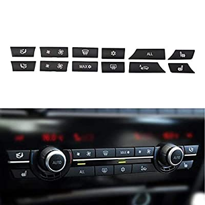 MOTOKU Set of 12 Air Conditioning A/C Heater Button Key Caps Switch Cover Repair Kit for BMW 5 6 7 F10 F01 F12 61319313923 931392