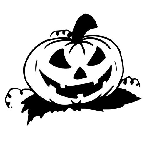 Empty 5 Stück Autoaufkleber17.2X14.1CM Halloween Kürbis Laterne Heckscheibe Aufkleber Autoaufkleber