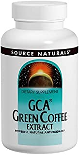 Source Naturals GCA Green Coffee Extract, Powerful Natural Antioxidant - 60 Tablets