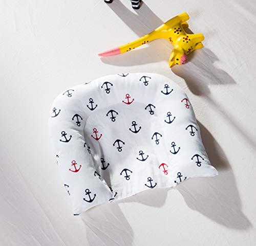 TEALP Kuschelnest Babynest Multifunktionales Nest für Babys Säuglinge Reisebett, 100% Baumwolle, Marineblau-Anker des Seethemas (0-24 Monate) - 7